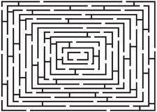 Rectangular black and white labyrinth Stock Photo
