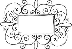 Rectangular Border Frame Stock Photography