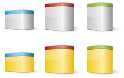 Rectangular boxes Royalty Free Stock Photo