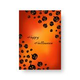 Rectangular brochure with pumpkins for Halloween Royalty Free Stock Photos