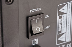 Rectangular button in the on-state Royalty Free Stock Photos