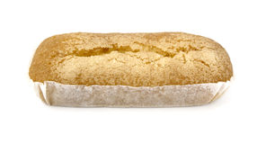 Rectangular cake. Delicious rectangular cake for breakfast Stock Photography