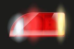 Rectangular car taillight. Royalty Free Stock Images