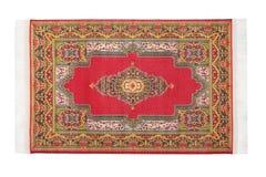 Rectangular Carpet Horizontally Lies On White Royalty Free Stock Photography