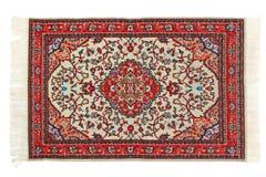 Rectangular carpet horizontally lies on white Stock Image