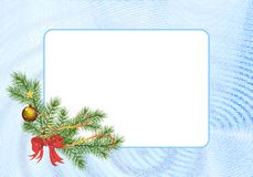 Rectangular Christmas frame, cdr vector Royalty Free Stock Image