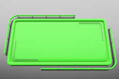 Rectangular colored plate with corners from tubes Stock Photo