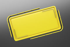 Rectangular colored plate with corners from tubes Stock Image