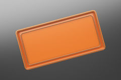 Rectangular colored plate with corners from tubes Stock Photography