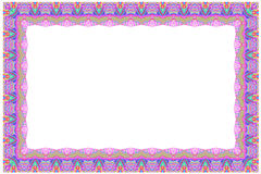 Rectangular colorful frame Stock Images
