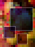 Rectangular colorful pattern Stock Image