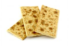 Rectangular diet cookies Royalty Free Stock Images