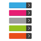 Rectangular empty buttons vector Royalty Free Stock Photos