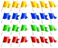 Rectangular flags Stock Photos