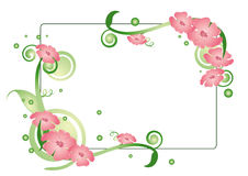 Rectangular Floral background Royalty Free Stock Photography