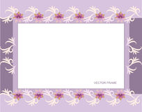 Rectangular floral frame Royalty Free Stock Photos