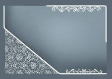 Rectangular frame with abstract decor Royalty Free Stock Photo