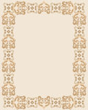 Rectangular frame with brown gothic design Stock Photo