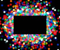 Rectangular frame of colored confetti Royalty Free Stock Photo