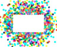 Rectangular frame of colored confetti Royalty Free Stock Photography