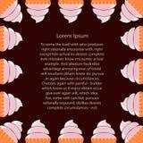Rectangular frame of cupcakes Stock Photography