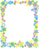Rectangular frame of flowers Stock Photo