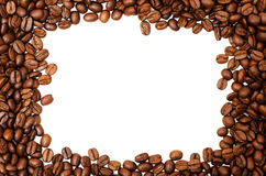 Rectangular Frame Made of Coffee Beans Stock Photography