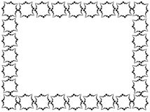 Rectangular frame made of decorative elements in black color.  Stock Photos