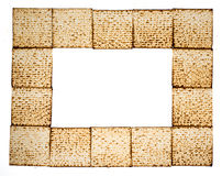 Rectangular frame made of matza Royalty Free Stock Photos