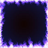 Rectangular frame surrounded with blue flame Royalty Free Stock Images