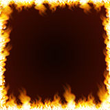 Rectangular frame surrounded with flame Stock Photography