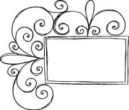 Rectangular Frame with Swirl. On white background Royalty Free Stock Images