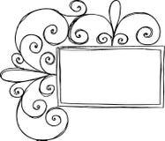 Rectangular Frame with Swirl. On white background royalty free illustration