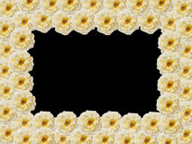 The rectangular frame of yellow roses Stock Photography