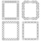 4 rectangular frames with geometric elements.Vector illustration Royalty Free Stock Image