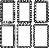 Rectangular frames. Set of rectangular frames with ornaments Stock Photo
