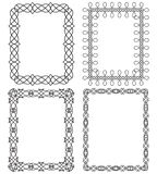 4 rectangular geometric frames.Vector illustration Royalty Free Stock Image