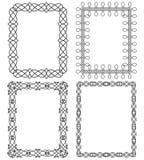 4 rectangular geometric frames.Vector illustration. Set of 4 rectangular frames in different styles stock illustration