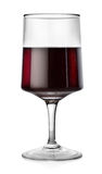 Rectangular glass of red wine Royalty Free Stock Photography