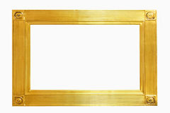 Rectangular gold frame Royalty Free Stock Image