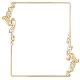 Rectangular gold frame Stock Images