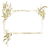 Rectangular gold frame ornament Royalty Free Stock Photo