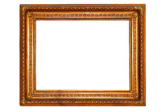 Rectangular gold plated wooden picture frame Stock Photography