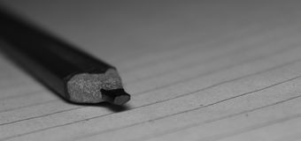 Rectangular Graphite pencil. A Rectangular graphite pencil on paper for taking notes Stock Images