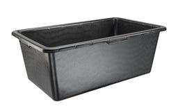 Rectangular heavy duty black plastic basin Stock Photography