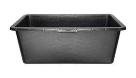 Rectangular heavy duty black plastic basin Royalty Free Stock Photography
