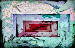 Rectangular Infinity. Textured rectangles inside of rectangles royalty free illustration