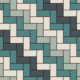 Rectangular interlocking blocks wallpaper. Parquet background. Seamless surface pattern design with repeated rectangles. Zig zag mosaic motif. Digital paper Stock Images