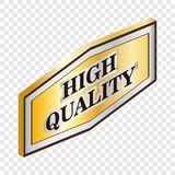 Rectangular label high quality isometric icon Royalty Free Stock Photography