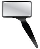 Rectangular magnifying glass Royalty Free Stock Images